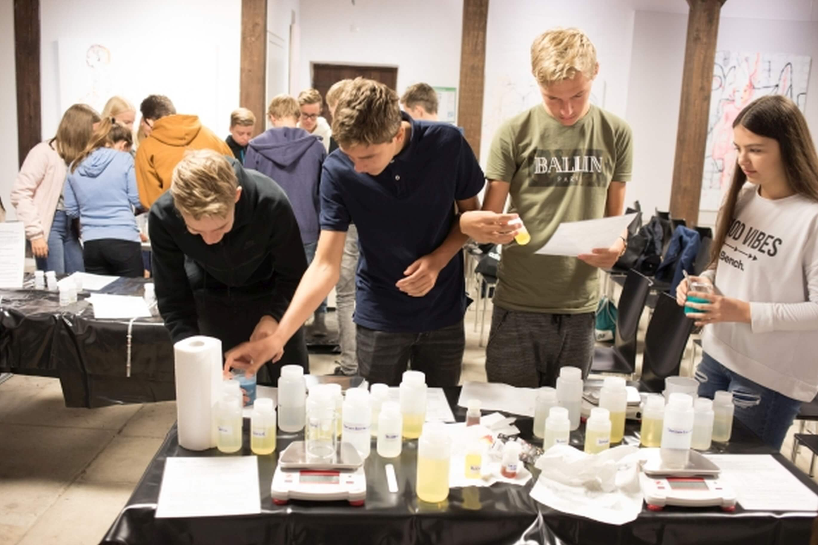 Students manufacture their own soap and skin cream