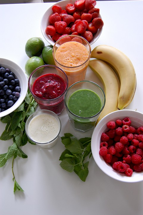 Ingredients for fresh smoothies